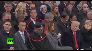 Moroccan king power naps during Macron's WWI centenary speech - RUSSIATODAY