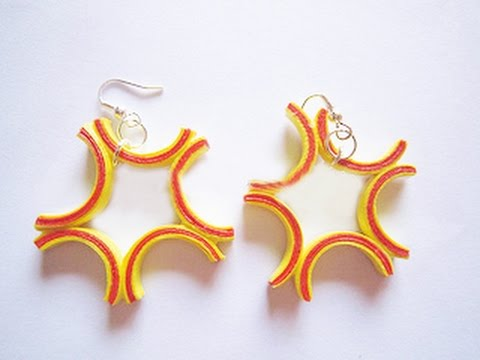 Quilling Paper Earrings Making Video Quilling Paper Earrings New