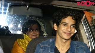 Ishaan Khatter With His Mother Spotted At Dhadak's Special Screening - ZOOMDEKHO