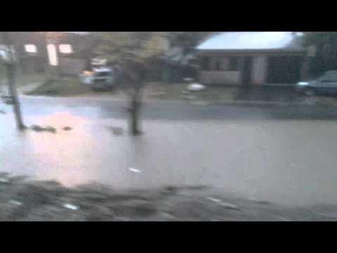 Así comenzó el diluvio en La Plata