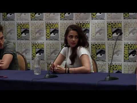 Breaking Dawn Part 2 Comic Con 2012 Panel #2 - Robert Pattinson, Kristen Stewart, Taylor Lautner