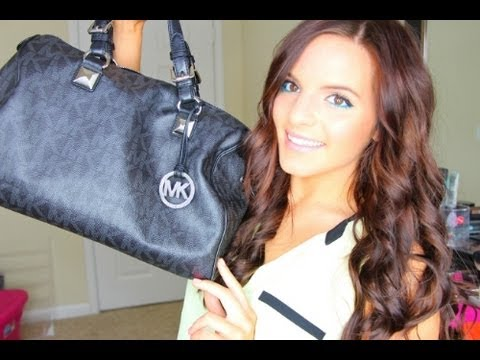 Whats in My Purse? Michael Kors Large Grayson Satchel