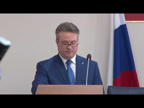 Торжественное назначение Вадима Кстенина на пост мэра прошло в горДуме