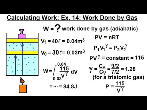 Calculus 2: Apllications - Calculating Work (15 of 16) Calculating Work Ex. 14: Work Done by a Gas