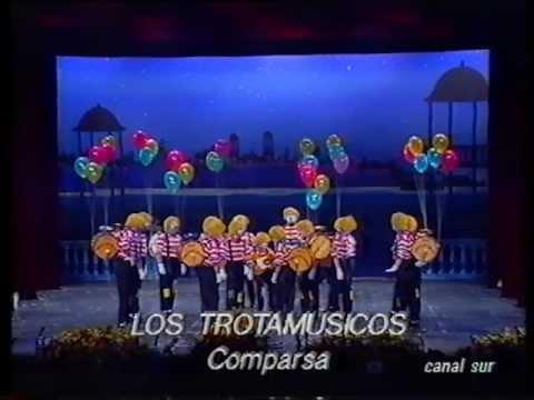 Sesión de Final, la agrupación Los trotamúsicos actúa hoy en la modalidad de Comparsas.