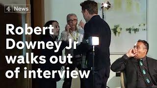 بالفيديو- روبرت داوني جونيور ينسحب من مقابلة تلفزيونية