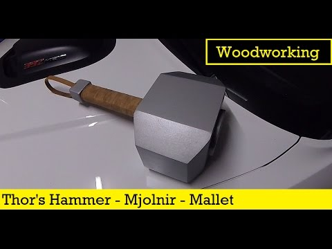 I make Thor's Hammer, Mjolnir, as a Wooden Mallet