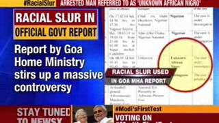 Goa home ministry refers to African as 'Nigro' - NEWSXLIVE