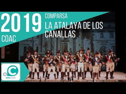 La agrupación La atalaya de los canallas llega al COAC 2019 en la modalidad de Comparsas. Primera actuación de la agrupación para esta modalidad.