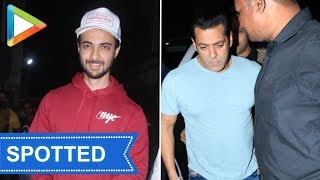 SPOTTED: Salman Khan & Aayush Sharma at Sohail Khan's office - HUNGAMA