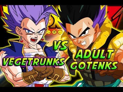 Dragonball Z: What If Battle - Vegetrunks Vs Adult Gotenks