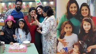 Telugu Actress Rambha Birthday Celebration With Family And Friends Photos - RAJSHRITELUGU