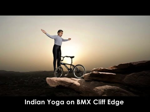 BMX STUNTS- 61 Year old Indian Khivraj Gurjar Performs Extreme Yoga with his Bmx on Cliff Edges .