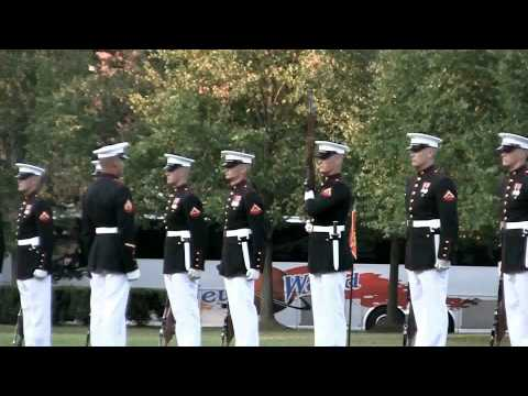 US Marines!! Sunset Parade Part III -Silent Drill Platoon Performs