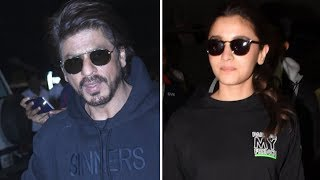 SPOTTED: Shah Rukh Khan and Alia Bhatt @Airport with Family - HUNGAMA