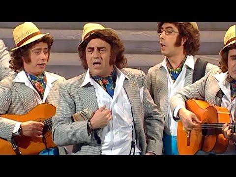 Sesión de Final, la agrupación Los enteraos actúa hoy en la modalidad de Chirigotas.