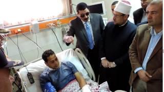 شاهد- قرار بعلاج خبير المفرقعات المصاب في قنبلة سيدي جابر بالخارج