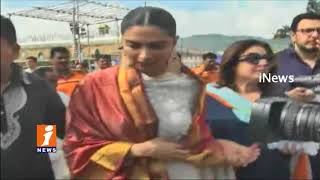Bollywood Diva Deepika Padukone Visits Tirumala | iNews - INEWS