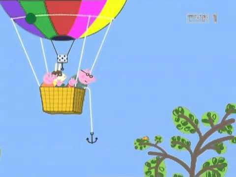 Swinka Peppa   Lot balonem