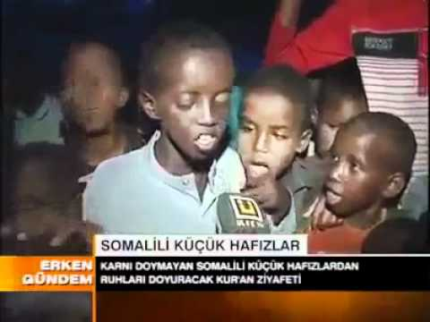 somali children in drought reciting Quran