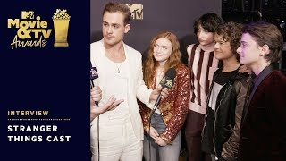 'Stranger Things' Cast Say Season 3 Is Darker & Funnier   2018 MTV Movie & TV Awards - MTV