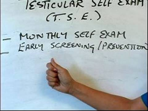 How to Perform a Testicular Cancer Exam : What Fingers to Use to Perform a Testicular Self Exam
