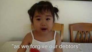 The Lord's Prayer by 2-year Old Bible Video
