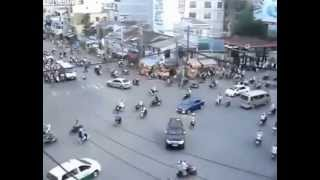 Rush Hour Traffic In Ho Chi Minh City Video