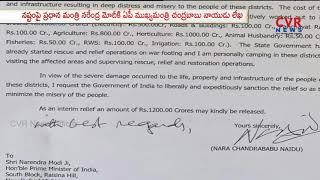 AP CM Chandrababu Naidu Letter to PM Modi | Seeks Relief for AP Titli Cyclone Hit | CVR News - CVRNEWSOFFICIAL
