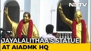 J Jayalalithaa's New Statue Replaces The One That Barely Looked Like Her - NDTV
