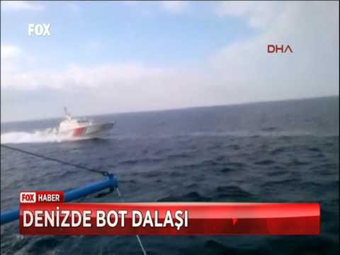 Türk Sahil Güvenlik Botundan Tacize Cevap