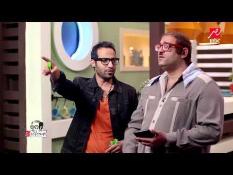 احمد فهمي يلعب دارتس ابو حفيظة في أسعد الله مساءكم
