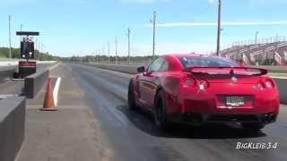 فيديو .. نيسان GT-R تقطع مسافة ربع ميل في 8 ثواني