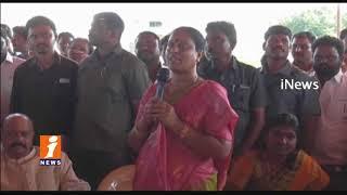 TRS MLA Konda Surekha Lay Foundation Stone For Water Tank In Warangal   iNews - INEWS