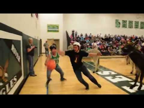 Donkey Basketball at Tongue River High School