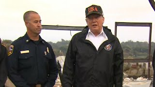 Trump Surveys Fire Damage In Malibu | NBC News - NBCNEWS
