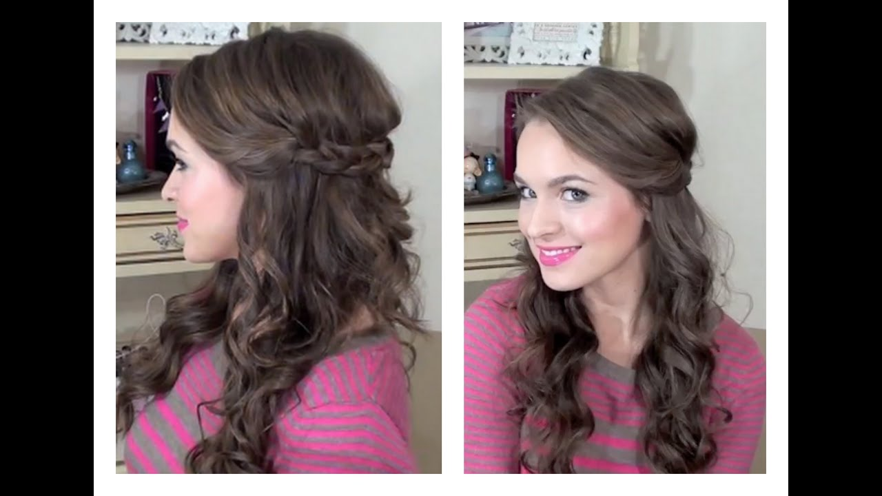 Simple Half Up Hairstyle – My Bridesmaids Hairstyles – Video ...