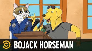 "Mr. Peanutbutter Steals the ""D"" - BoJack Horseman - COMEDYCENTRAL"