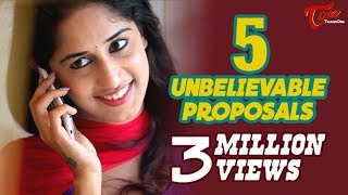 5 Unbelievable Proposals | Latest Short Film 2015 | By Chakradhar Reddy B - YOUTUBE