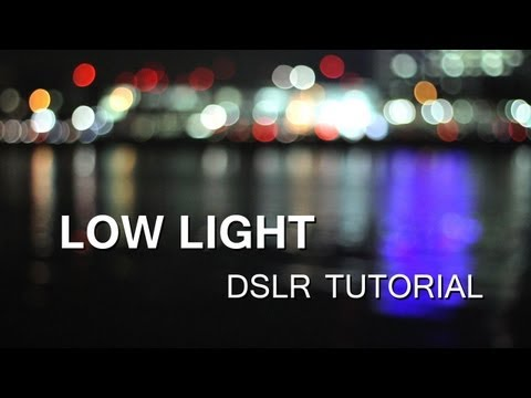 DSLR Tutorial: How to shoot in Low Light (at night) &amp; how to reduce noise!