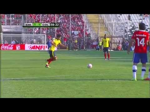 Goles HD 720p Chile 1 - 3 Colombia (James, Falcao, Teofilo Gutierrez) eliminatorias Brasil 2014