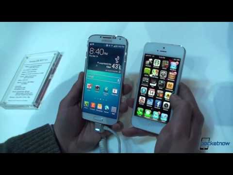 Samsung Galaxy S4 vs iphone5 in HD