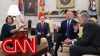 Trump clashes with Pelosi, and Schumer over border wall - CNN