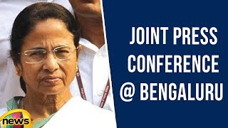 West Bengal CM Mamta Banerjee Joint Press Conference at Bengaluru | Political Updates | Mango News - MANGONEWS