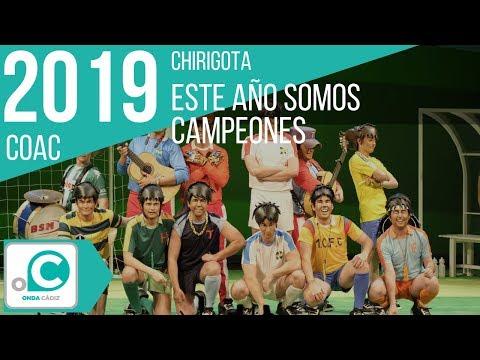La agrupación Este año somo campeones llega al COAC 2019 en la modalidad de Chirigotas. En años anteriores (2018) concursaron en el Teatro Falla como Ahora bajo... que me estoy cambiando, consiguiendo una clasificación en el concurso de Preliminares.