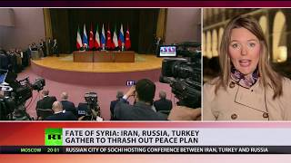 Solving Syria: Iran, Russia, Turkey gather to thrash out peace plan - RUSSIATODAY