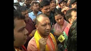 Mathura: UP CM offer prayers at Shri Krishna Janambhoomi - ABPNEWSTV