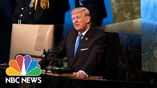 Watch Live: Trump Addresses the United Nations General Assembly - NBCNEWS
