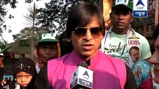 Vivek Oberoi steals the show at JD(S) candidate Nandini Alva's rally - ABPNEWSTV