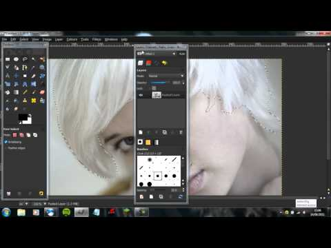 Gimp Tutorial : How to change hair colour